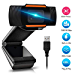 1080P Webcam AutoFocus with Microphone, USB(2.0/3.0) Computer Camera for Live Streaming Webcam,110 Degrees Wide-Angle 30fps for Laptop, Noise Reduction Desktop,Conferencing, Video Chatting (Renewed)