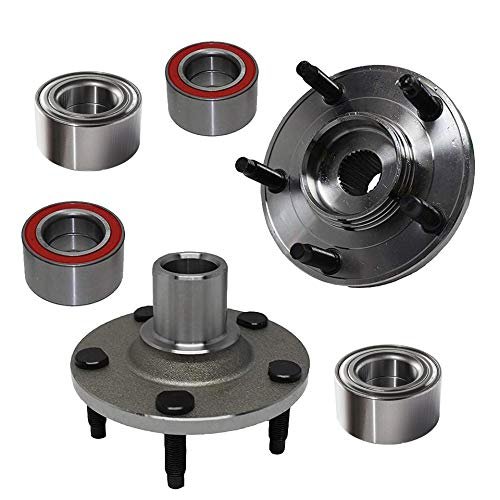 Detroit Axle Replacement for Ford Escape Mazda Tribute Mercury Mariner Front Wheel Hub + Rear Wheel Bearing Assembly - 4pc Set