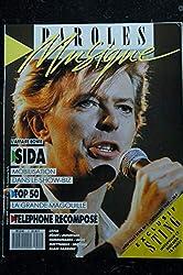 Paroles & Musique 1987 12 n°2 David BOWIE TELEPHONE STING AUBERT BERTIGNAC EURYTHMICS ZOUC Alain BARRIERE