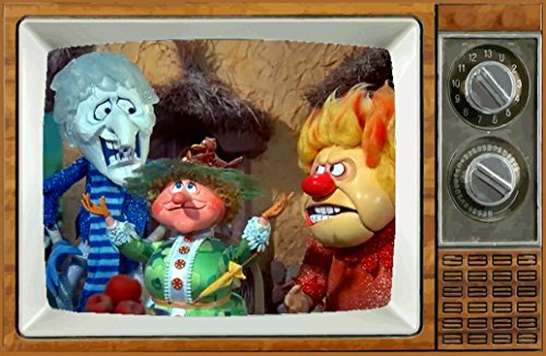 """Baldfrog Images Heat & Snow Miser Mother Nature The Year Without Santa Claus 2"""" x 3"""" Fridge Magnet Refrigerator Vintage Image Gift Retro Christmas"""