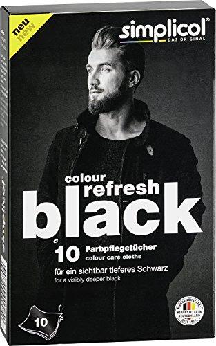 Simplicol Tissus Teinture Textile Noire - Ravive Le Noir de Textile et Vêtements Décolorés - 1x 10 pièces - Noir