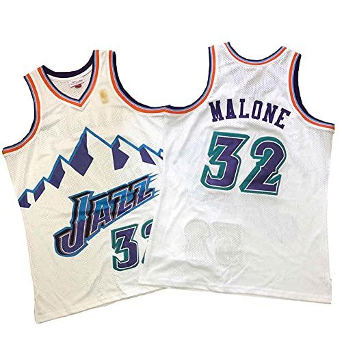 ZRBP # 32 Uniformes De Baloncesto para Hombres Malone Jazz, Uniformes De Equipo, Camisetas Deportivas Sin Mangas, Letras Y Números Personalizados Impresos Y Cosidos S