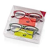 2 Occhiali da Vista Premontati 60664 con Potere +2.00 di colore Rosso e Verde - Offerta Multipack 2 x 1