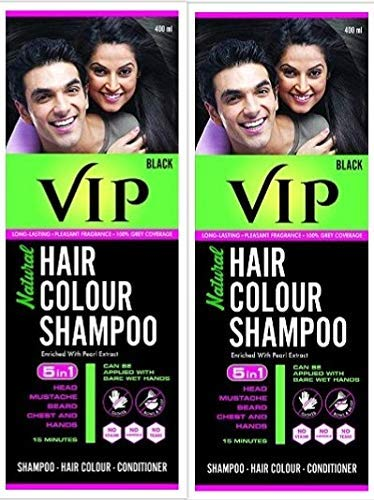 VIP Hair Color Shampoo 180ml (pack of 2) + evalipcare free