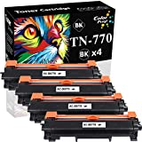 4-Pack ColorPrint Compatible TN-770 Toner Cartridge Replacement for Brother TN770 TN 770 to use with HL-L2370DW HL-L2370DWXL MFC-L2750DW MFC-L2750DWXL Printer (Black, High Yield)