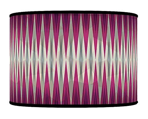 30cm Spikes Purple Grey retro Geometric Handmade Giclee Style stampato tessuto paralume per lampada da terra o da soffitto paralume 304