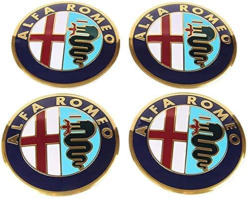 4 Piezas Coche Tapas Rueda Centro Tapacubos para Alfa Romeo Giulia Giulietta 147 154 155 156 159 164 166, Prueba Polvo Repuesto Accesorios