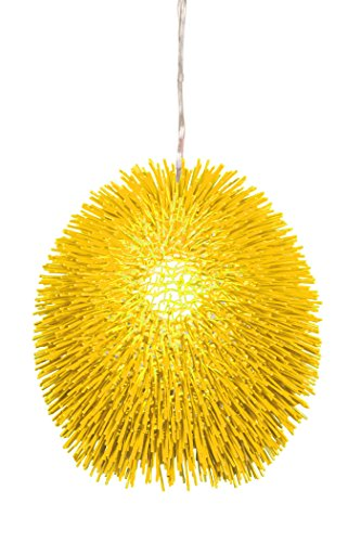 Varaluz 169P01YE Urchin 1-Light Pendant - Un-Mellow Yellow Finish