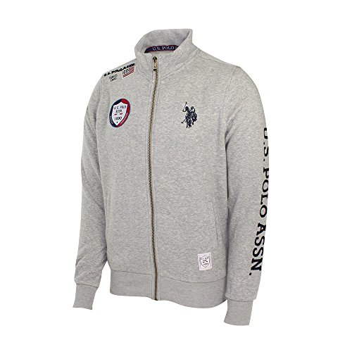 U.S. Polo ASSN Sweatjacke Full Zip Grau Melange - XL