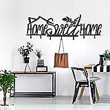 ocartes Home Sweet Home - Perchero de Pared de Metal con diseño Minimalista, inauguración de la casa