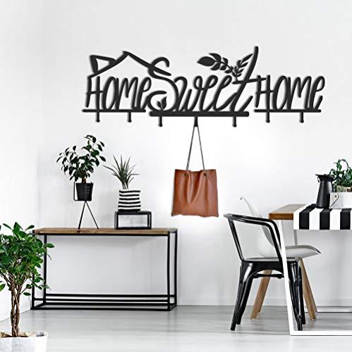 ocartes Home Sweet Home - Appendiabiti in Metallo, Stile minimale, da Parete, per Ufficio, in Metallo, Ideale Come Regalo di inaugurazione della casa