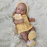 ZXYMUU Reborn Baby Dolls Simulation Newborn Sleeping Girl Reborn Tronco de 10 Pulgadas Silicone Soft...