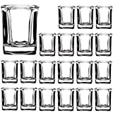 2 Ounce Heavy Base Shot Glass Set,QAPPDA Whisky Shot Glasses 2 oz,Mini Glass Cups For liqueur,Double Side Cordial Glasses,Tequila Cups Small Glass Shot Cups Set Of 16 KTY1502…