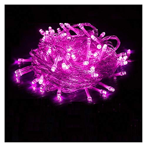 LIFEIYAN LED Fairy Lights String AC 220V 10M-100m Waterproof Outdoor Indoor LED Rope String Lights Christmas Holiday Party Garden Strip Light Festoon Lights (Color : Pink, Size : 50m500 LEDs)