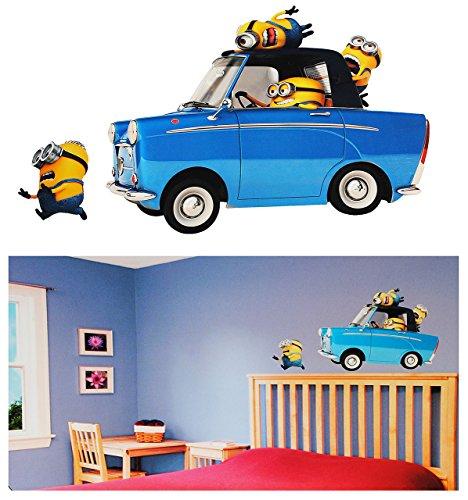 alles-meine.de GmbH 2 Stück: XL Wandsticker -  Minion - Ich einfach unverbesserlich / im Auto  - selbstklebend + wiederverwendbar - Aufkleber für Kinderzimmer - Wandtattoo / St..