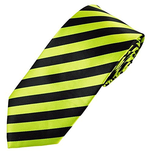 Men's New Skinny Solid Color stripped & Tie Cravate Satin rayé