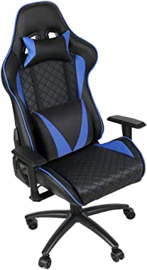 ALEXTREME Gaming Chair Office Chair High Back Computer Chair PVC Leather Desk Chair PC Racing Executive Ergonomic Adjustable Swivel Task Chair with Headrest and Lumbar Support (Shipped from US)