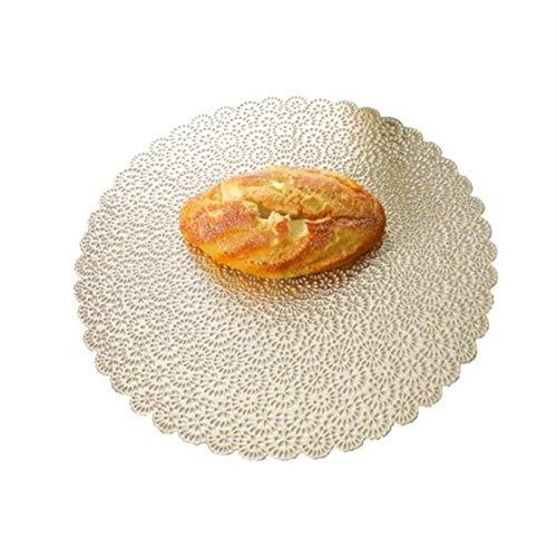 Avin Gouden zilveren tafelmat placemat holle ronde isolatie pad kom mat onderzetter restaurant keuken decoratie