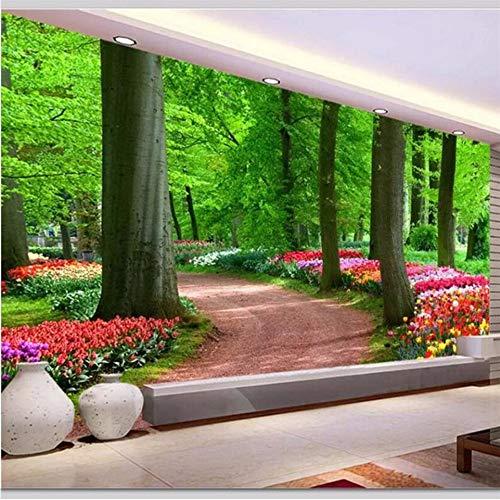 Wuyii Gepersonaliseerde achtergrond voor de woonkamer, modern en minimalistisch, hout, landschappen, muren, HD-open haard, groen hout, TV-achtergrond, achtergrond A 120 x 100 cm.