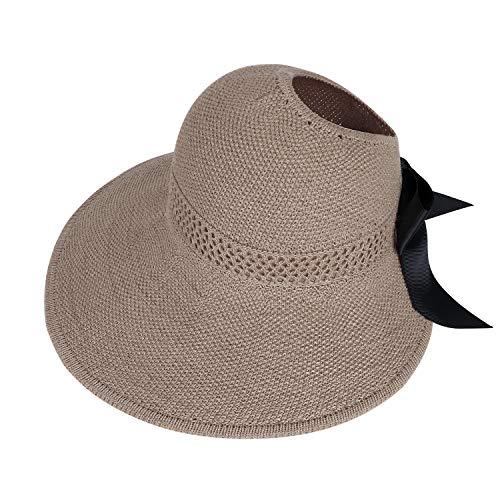 Sombrero Sol de Paja de Las Mujeres Verano Playa Pamelas Algodón Protección...