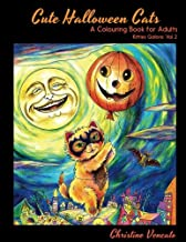 Cute Halloween Cats: A Cats and Kittens Colouring Book for Adults: 2
