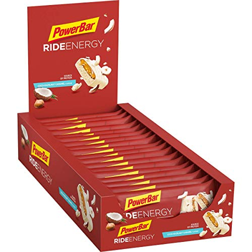 PowerBar Ride Energy Coco Hazelnut Caramel 18x55g - Kohlenhydrat Eiweißriegel + Magnesium