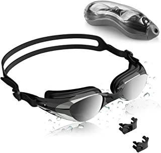 XDODD Swimming Glasses Swim Goggles Swimming Goggles No Leaking Anti Fog UV Protection Triathlon with Mirrored Clear Lenses for Adult Men Women Youth Kids Child