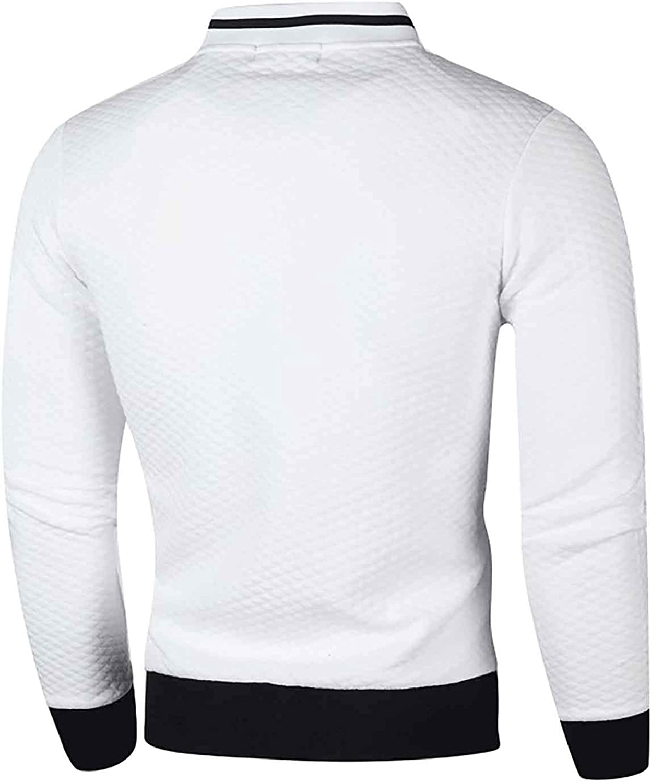 Autumn Winter Men's Fashion Jacket Solid Color Knitting Sweatshirt Zipper Cardigan Coats