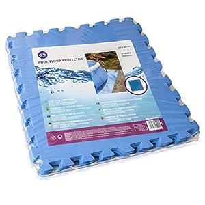 Gre MPF509 - Protector de Suelo para Piscina, 9 piezas, Color Azul, 4,5 mm de Grosor