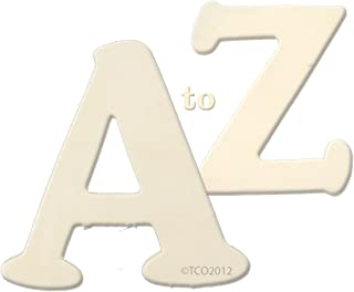 The Crafts Outlet Alphabet Set A to Z Wooden Letters, 1/4 by 4 by 3-1/4-Inch