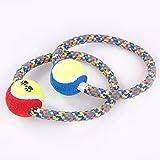 Pet Online Cuerda de algodón Pet cuerda redonda nudo toy bite bite mastique dientes limpios perro de juguete formador