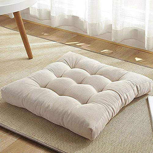 YUMYANY Corduroy Seat Cushion, Thicken Soft Comfortble Chair Cushion Non-slip Square Cushion Suitable for School Office Home Car Tatami Seat Cushion-45x45cm(18x18inch)-K