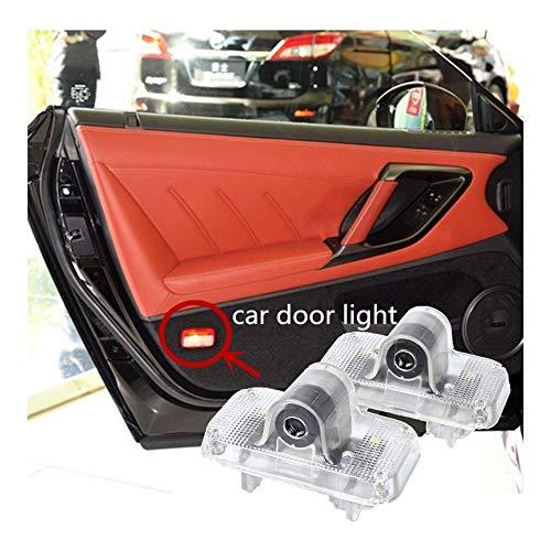 Happy Shop Autotür Willkommen Licht LED-Auto-Tür-Licht kompatibel mit Nissan Murano Z50 Z51 GTR GTR R35 Teana J31 X-Trail T30 T31 Logo Projektor dekorativer Lampe Zubehör Willkommenes Licht