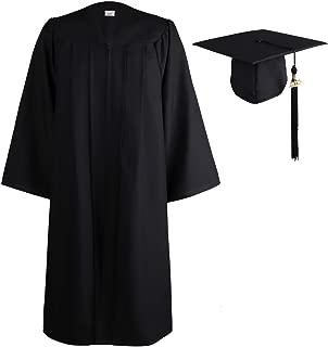 Matte Graduation Gown Cap Tassel Set 2019 for High School and Bachelor