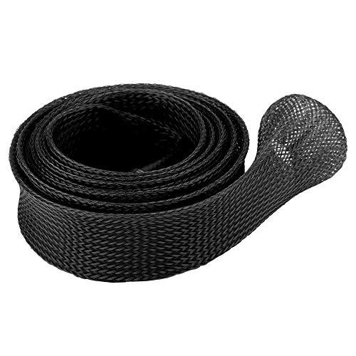 Broco gevlochten mouw uitbreidbaar gieten hengels pole cover beschermer (zwart)