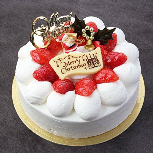 パティスリーTakaYanai 生クリーム苺デコレーションケーキ5号 お届け:12月24日 クリスマスケーキ予約 2020