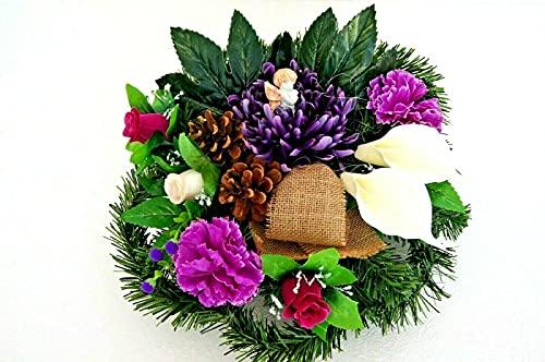 tatjana-land-deko Grabgesteck Totensonntag Grabschmuck Gesteck Allerheiligen Gedenken kunstblumen