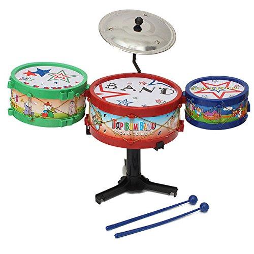 Bazaar 4pcs enfants mini-kit de batterie mis instruments jouets bande basse dons musicaux