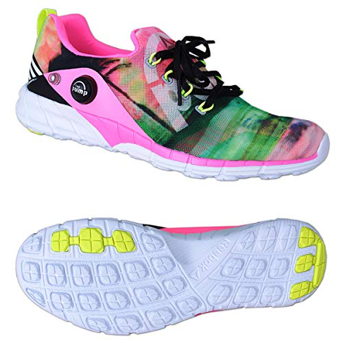 Reebok Schuhe Sneaker Zpump Fusion 2.0 Freizeitschuhe Junior Damen bunt (37.5 EU, Black/Pink/Yellow/White)