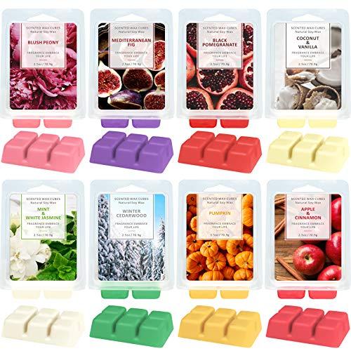 LA BELLEFÉE Wax Melts,Scented Wax Cubes,Scented Soy Wax Cubes, Wax Melts for Warmer, Wax Cubes 8 Fragrance, 8x2.5oz