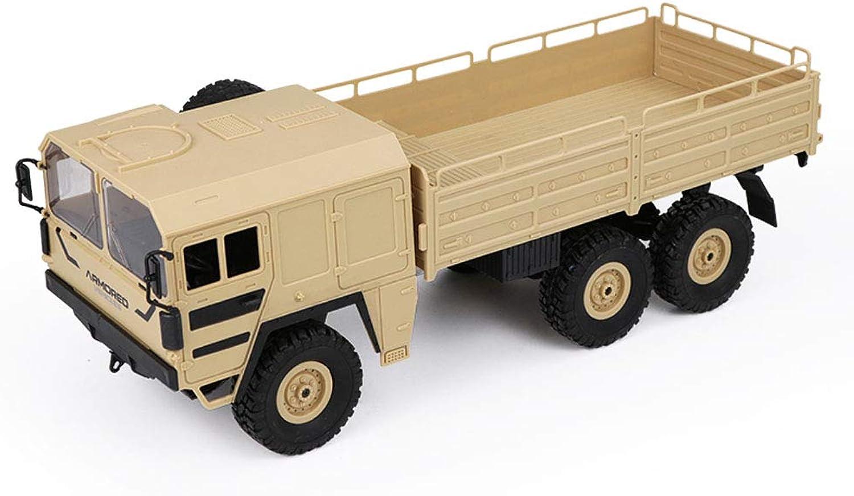 WQGNMJZ Fernbedienungsfahrzeug, Sechsrg-Serienfernbedienung Militrkarte Q64, Stodmpfer Gelndewagen, 6-Antrieb Simulation Militrmodell 1 16 Spielzeuge,Beige