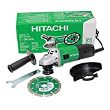 Hitachi G13STAYL - Amoladora angular (12000 RPM, Negro, Verde, M14, 88 dB, 7,9 m/s², Corriente alterna)