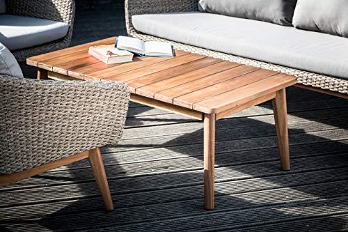 Greemotion Murcia Loungemöbel Set 4-teilig für Garten und Terrasse mit Tisch aus Holz, braun, 1 x 1 x 1 cm - 4