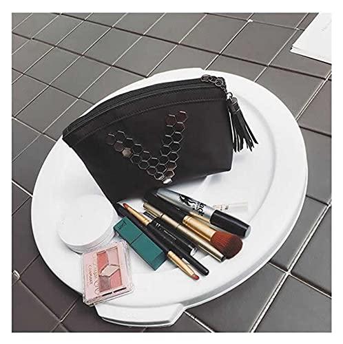 cosmetische tas Vrouwen Reizen Black Letter V Cosmetische Zak Zipper Make Up PU Lederen Makeup Case Organizer Opslag Pouch Toilry Beauty Wash schattige cosmetische tas (Color : 1, Size : Small)