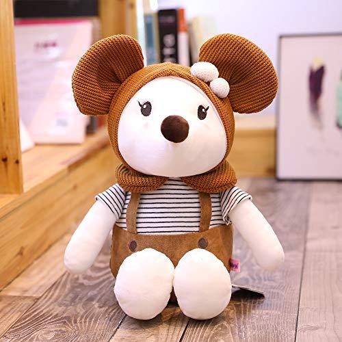ndegdgswg Süße Ratten, Maskottchen, Maus Plüsch Spielzeug, Tierkreis Puppen, Dolldolls, Kissen, um Freundin Geschenke zu senden 30 cm Schokolade