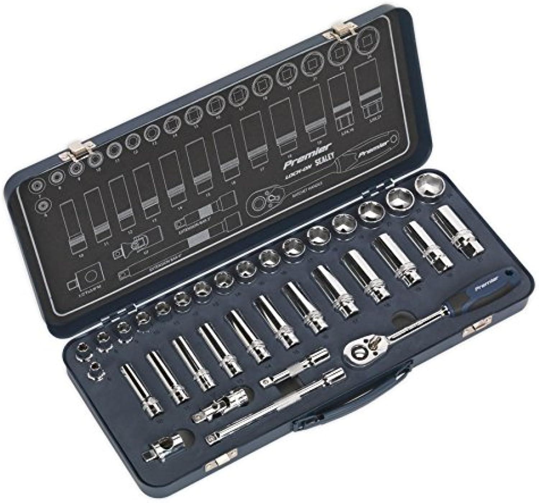 SEALEY ak27481 ak27481 ak27481 Socket Set 34Pc 3 20,3 cm SQ DRIVE LOCK-ON ™ 6pt Metrisches B071YK5JMJ | Wonderful  0d5c7a