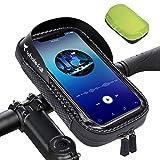 Whale Fall Portable Bike Handlebar Bag 360° Rotation-Waterproof Bike Phone Bag Cycling Phone Mount Pack TPU Touch-Screen with Sun-Visor and Rain Cover for 6.5'' iPhone11 xs max & iPhone12