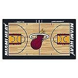 FanMATS NBA Miami Heat - Corredor de la NBA de Nailon para la Corte de la NBA (Talla pequeña), Color del Equipo, 24 x 44