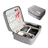 Electronics Organizer, Electronic Accessories Double Layer Travel Cable Organizer Cord Storage Bag for Cables, iPad,Power Bank