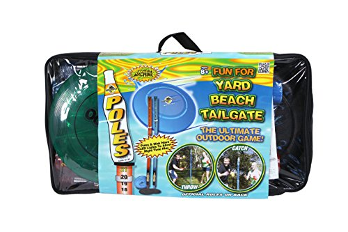 Water Sports Deluxe Light Up Pole Game with Frisbee Disc and Poles, Multi (810717)